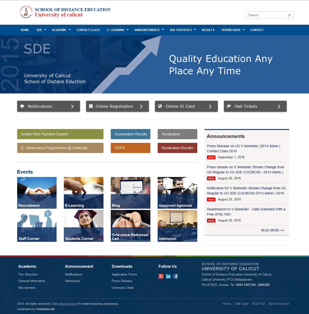 The-School-of-Distance-Education-calicut-university