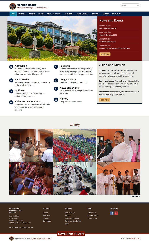 Sacred Heart Matriculation Higher Secondary School
